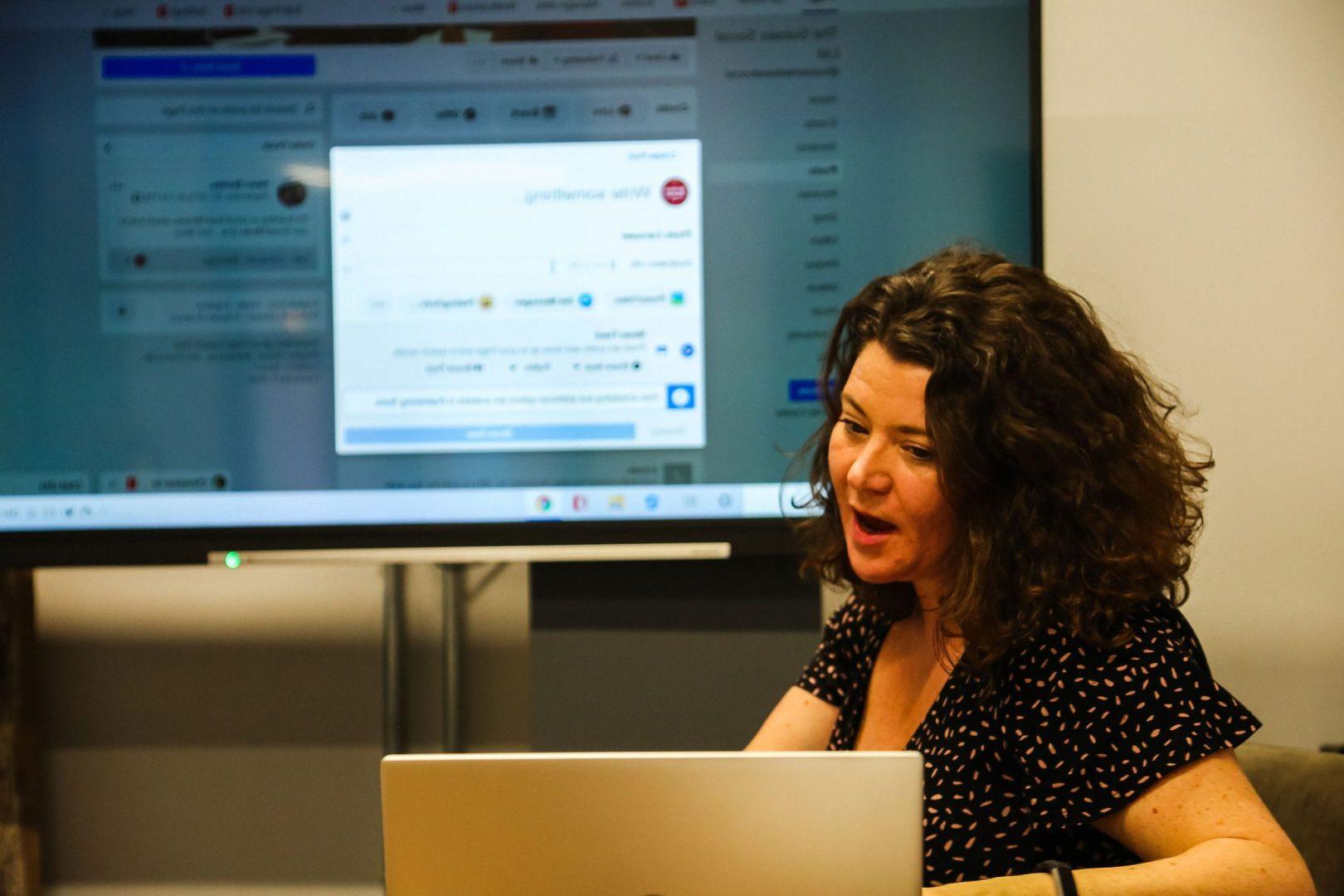 Delivering a workshop on Facebook Marketing